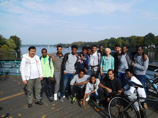 Gruppenbild an der Havel