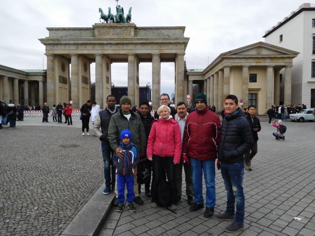 Start am Brandenburger Tor